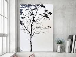 painting abstract painting tree painting black white