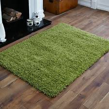 Modern Green Rug Large Modern Soft Lime Green Plane Rug 5cm Thick High Pile Shaggy