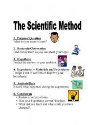 here u0027s a poster on one approach to a scientific method science