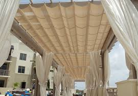 Outdoor Cabana Curtains Valrose Awnings Miami Fl Outdoor Curtains
