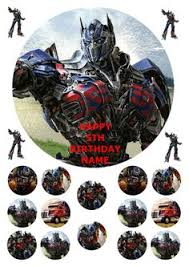 24 precut transformers edible wafer paper cake toppers decorations http www toppycakes co uk 24 optimus prime transformers rice