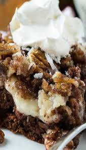 german chocolate poke cake good eats no meats pinterest