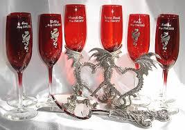 wedding goblets wedding glasses set