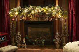 christmas mantel decorating ideas gold and silver tree interior