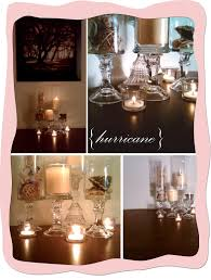decorating glass hurricane vases for charming dining table