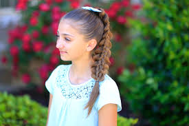 cute hairstyles pull through braid stacked pull through braid cute girls hairstyles cute girls