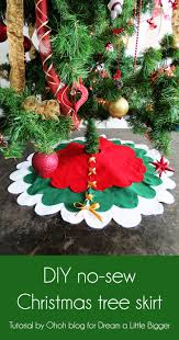 christmas tree skirts how to make a no sew christmas tree skirt a bigger