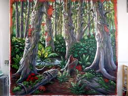 Forest Mural by Enchanted Forest Mural Suzan Marczak