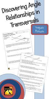 Transformations Geometry Worksheet 86 Best Geometry Parallel Lines U0026 Transversals Images On