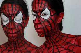 halloween makeup spider man face paint tutorial