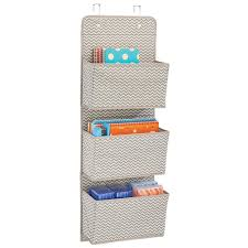 Wall Organizer Office Amazon Com Mdesign Wall Mount Over The Door Fabric Office
