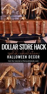 remodelaholic cheap u0026 easy halloween decor dollar store gold