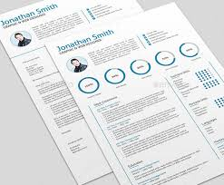 Free Indesign Resume Template Resume Templates Modern Bordered Floral Modern Resume Modern