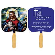 church fan custom sandwiched religious fans promotional religious