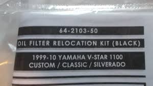 jardine oil filter relocation kit black yamaha v star custom