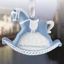 2017 wedgwood blue baby s rocking porcelain