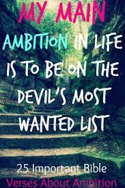 ambition ambition devil bible