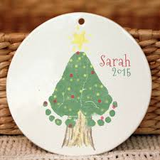 christmas tree footprint ornament 302a orn hand and footprint art
