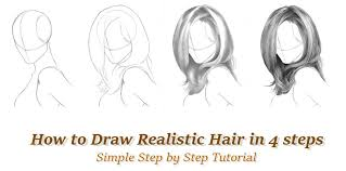 how to draw realistic hair in 4 steps by rapidfireart on deviantart