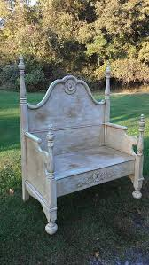 Bench Made From Bed Headboard 78 Best Bed Frame Benches Images On Pinterest Old Chairs