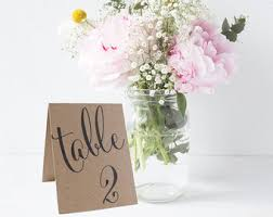 table numbers wedding table number signs etsy