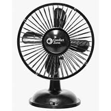 6 inch oscillating fan fans home and office fans comfort zone 174 cz6usb 6 inch