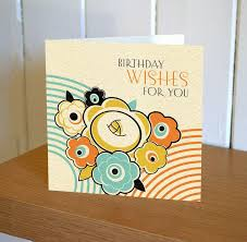 floral art deco birthday wishes for you card karenza paperie