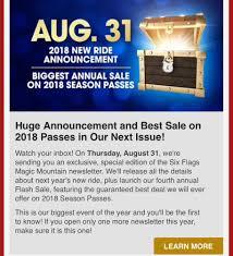 Six Flags Offers 2018 Neuheit Crazanity Giant Discovery Zamperla Six Flags