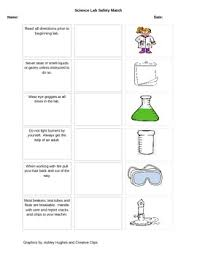 science lab safety cut n paste match by jerri birkofer tpt