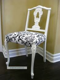 damask dining chair set of four vintage french provincial black