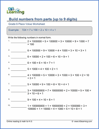 grade 6 place value u0026 scientific notation worksheets free