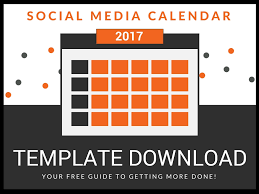 how to fill up your social media calendar strategy template
