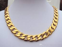 gold solid necklace images 2018 fine yellow gold jewelry weighty heavy 108g 24k gf stamp jpg