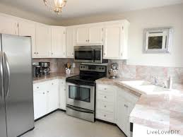 Small White Kitchen Cabinets Kitchens With Tile Floors And White Cabinets Saomc Co