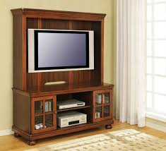 modern brown oak wood media cabinet with mounted tv of dazzling