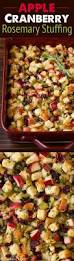 thanksgiving vegetable sides apple cranberry rosemary stuffing recipe thanksgiving