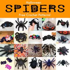 21 free halloween spider crochet patterns scary halloween free