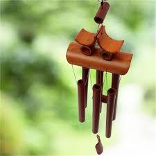 60cm 6 bamboo wind chime fenshui outdoor garden ornament far