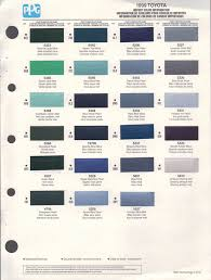 toyota company information paint chips 1999 toyota