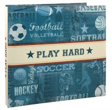 sports photo albums foster design 12 x 12 postbound scrapbook album sports