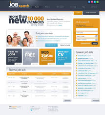 Best Resume Website Templates by Job Portal Psd Template 54193
