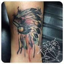 indian headdress tattoo on ribs water color headdress tattoo tattoos by christina walker