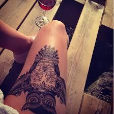 owl sugar skull i must this cait248 tattoos