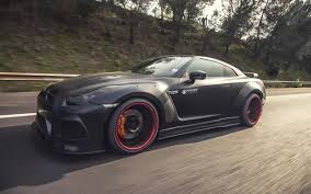 nissan gtr matte black prior design develops wide body kit for 720hp nissan gt r