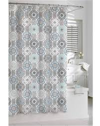 Gray And Brown Shower Curtain - deals on kassatex urban tiles shower curtain blue grey
