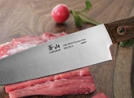 german steel kitchen knives cangshan w series 59960 6 german steel knife block set walnut