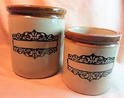 pottery canisters etsy