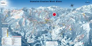 Alps On World Map by Megeve Trail Map