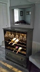 Lighted Bar Cabinet Repurposed Dresser Into Lighted Wine Cabinet Home 2015