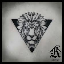 lion geometric animal geometry más cool skin art pinterest